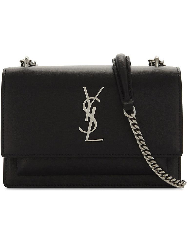 3e88223f836 SAINT LAURENT - Monogram Sunset leather wallet-on-chain | Selfridges.com