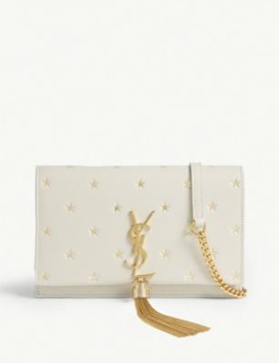 SAINT LAURENT Star print Kate wallet-on-chain
