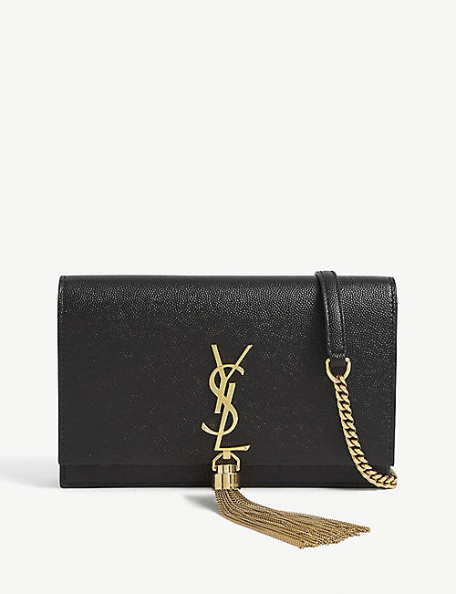 SAINT LAURENT: Kate monogram leather wallet-on-chain