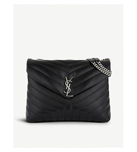 bcf4af575e6 SAINT LAURENT Loulou Monogram medium quilted leather shoulder bag (Black