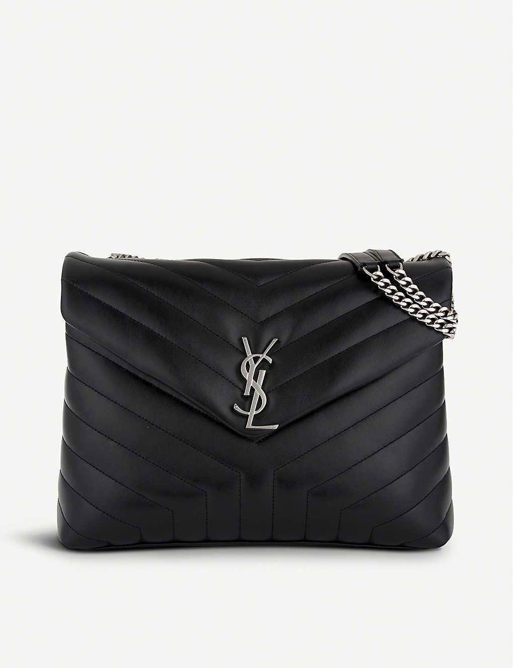 dbd648455 SAINT LAURENT - Loulou Monogram medium quilted leather shoulder bag ...