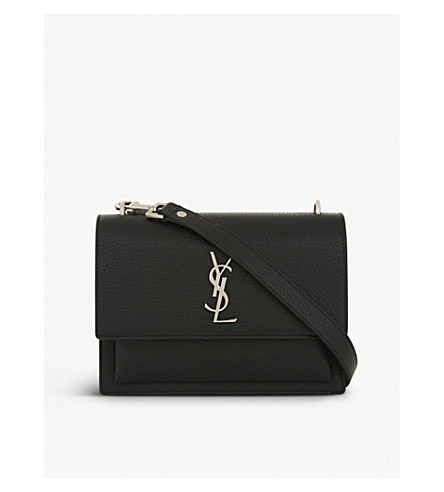 SAINT LAURENT Monogram Sunset medium leather cross-body bag (Black c73aaba891a52