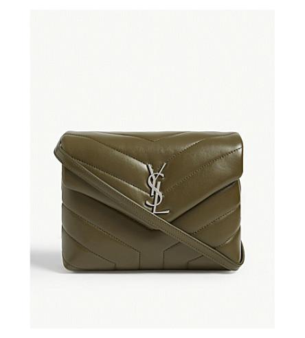 81945ce35d6 SAINT LAURENT Monogram Loulou quilted leather cross-body bag (Light+khaki