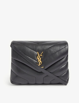 SAINT LAURENT Monogram Loulou 绗缝皮革斜挎包