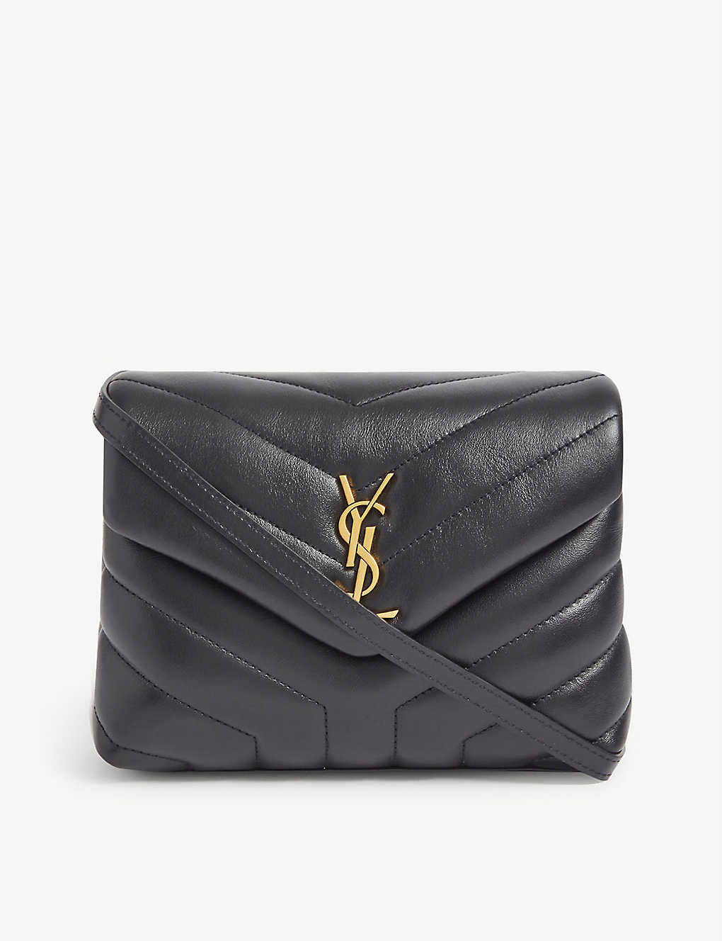 SAINT LAURENT: Loulou Toy monogram leather cross-body bag