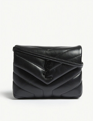 SAINT LAURENT Loulou monogram quilted leather shoulder bag