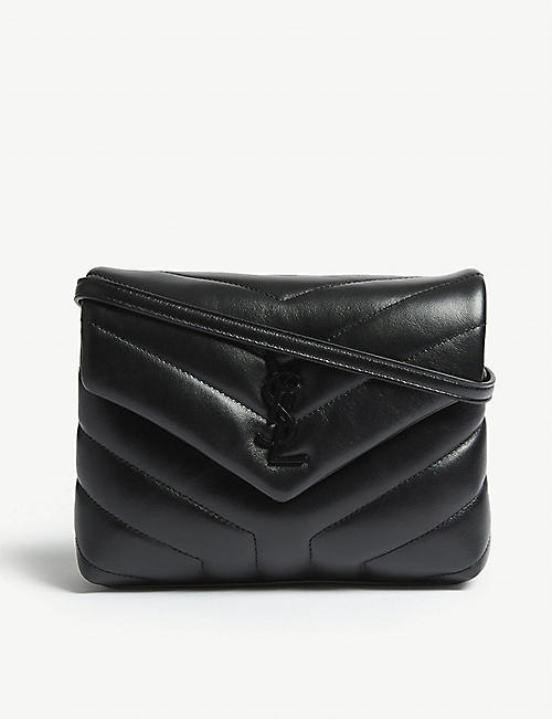 SAINT LAURENT: Loulou Toy monogram quilted leather shoulder bag