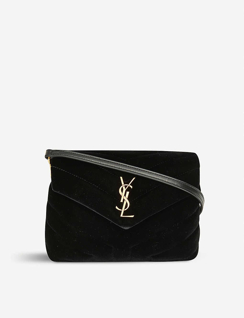795d4c1bf3b SAINT LAURENT - Toy Loulou velvet shoulder bag | Selfridges.com