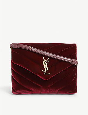 SAINT LAURENT LouLou velvet cross-body bag