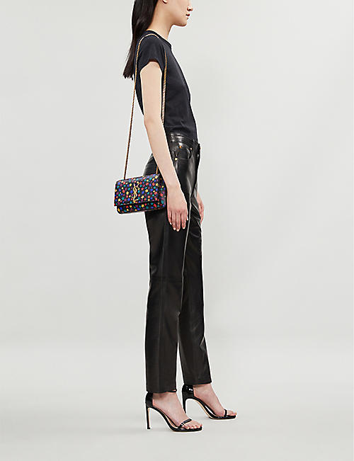 SAINT LAURENT Graphic print Kate shoulder bag