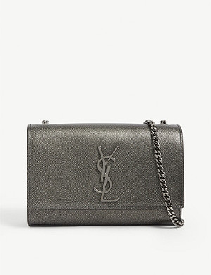 SAINT LAURENT Kate small pebbled leather shoulder bag