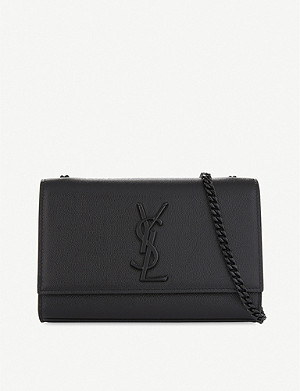 SAINT LAURENT Monogram Kate small pebbled leather cross-body bag