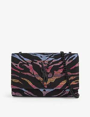 SAINT LAURENT Kate Tiger pattern shoulder bag