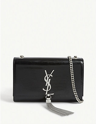 SAINT LAURENT: Kate lizard-embossed leather shoulder bag