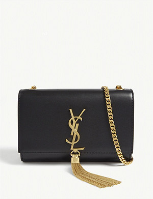 SAINT LAURENT Kate tassel monogram small leather cross-body bag