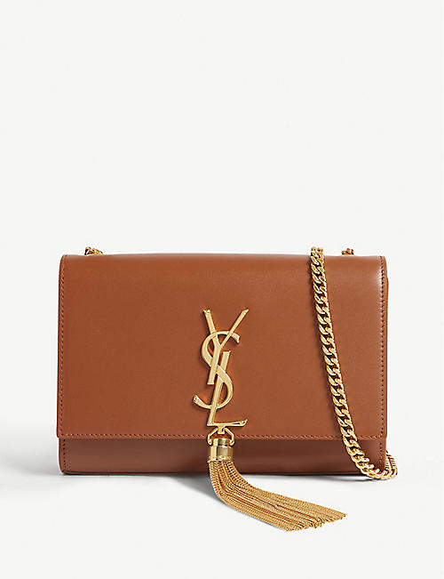 13af715317e9 SAINT LAURENT Kate leather wallet on chain