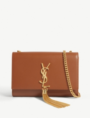 SAINT LAURENT Kate leather wallet on chain