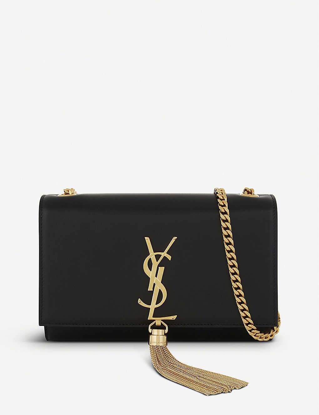 3772b4a93ca SAINT LAURENT - Kate tassel monogram small leather cross-body bag ...