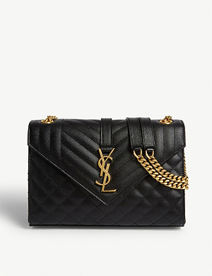 SAINT LAURENT Monogram quilted leather satchel