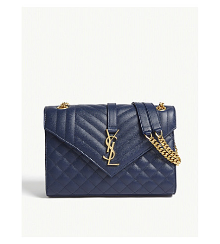 4050836e20f4 SAINT LAURENT Satchel leather shoulder bag (Denim+brut