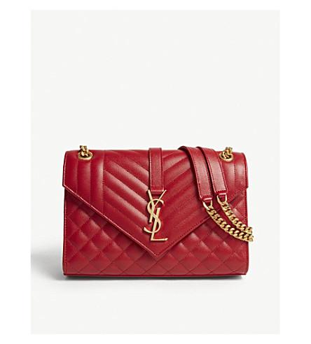 eae85e46630 SAINT LAURENT Leather shoulder bag (Red