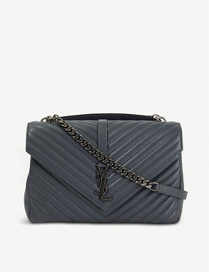 SAINT LAURENT Collège monogram quilted leather shoulder bag