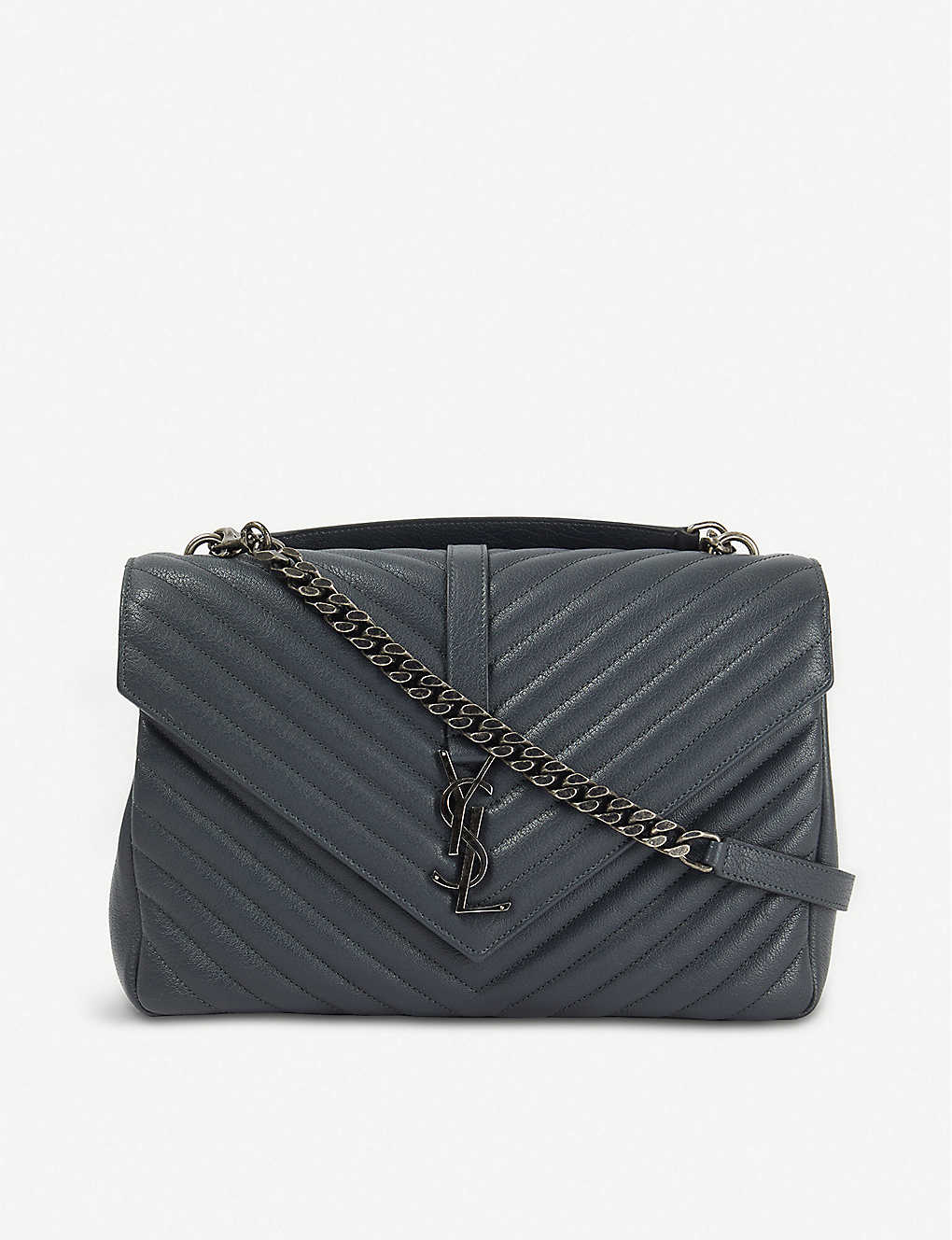 SAINT LAURENT: Collège monogram quilted leather shoulder bag
