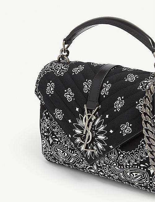 SAINT LAURENT Bandana college small cross-body bag
