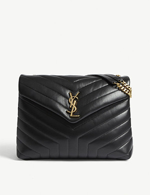c271d0ef388 SAINT LAURENT - Sunset Monogram medium crocodile-embossed leather ...