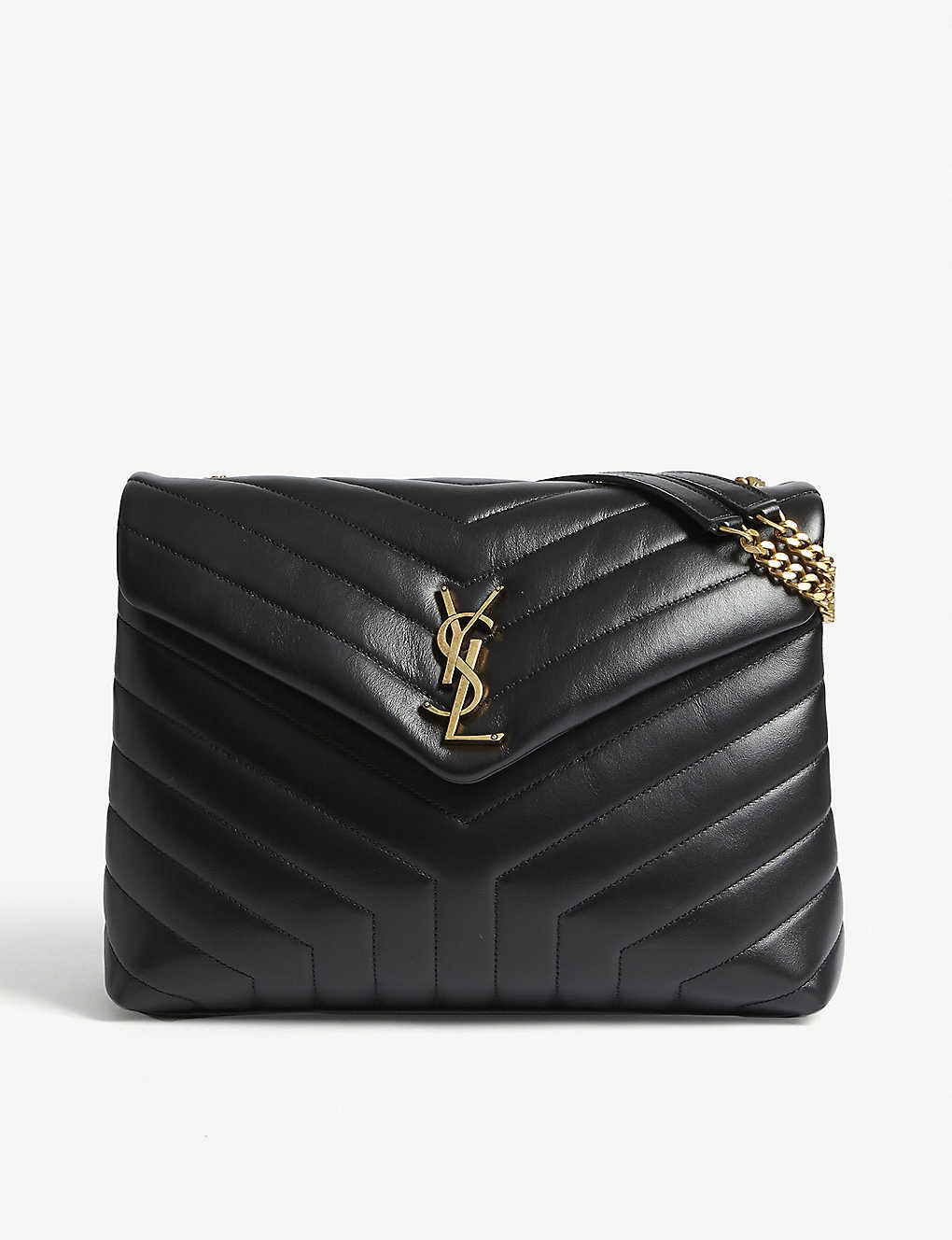 SAINT LAURENT: Loulou monogram medium leather shoulder bag