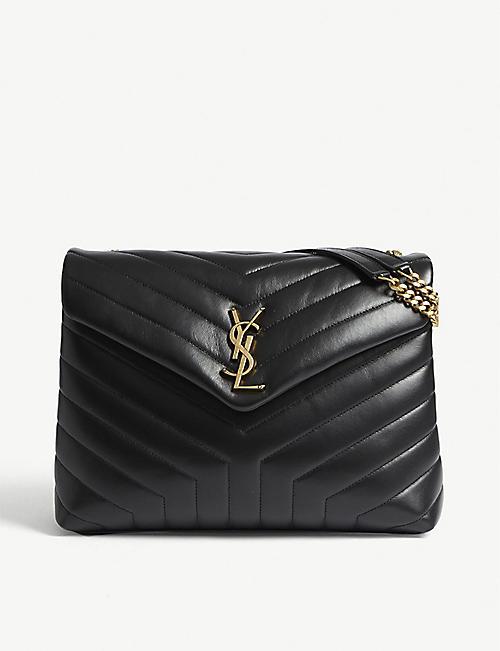 330d23a6b0 SAINT LAURENT - Monogram LouLou medium leather shoulder bag ...