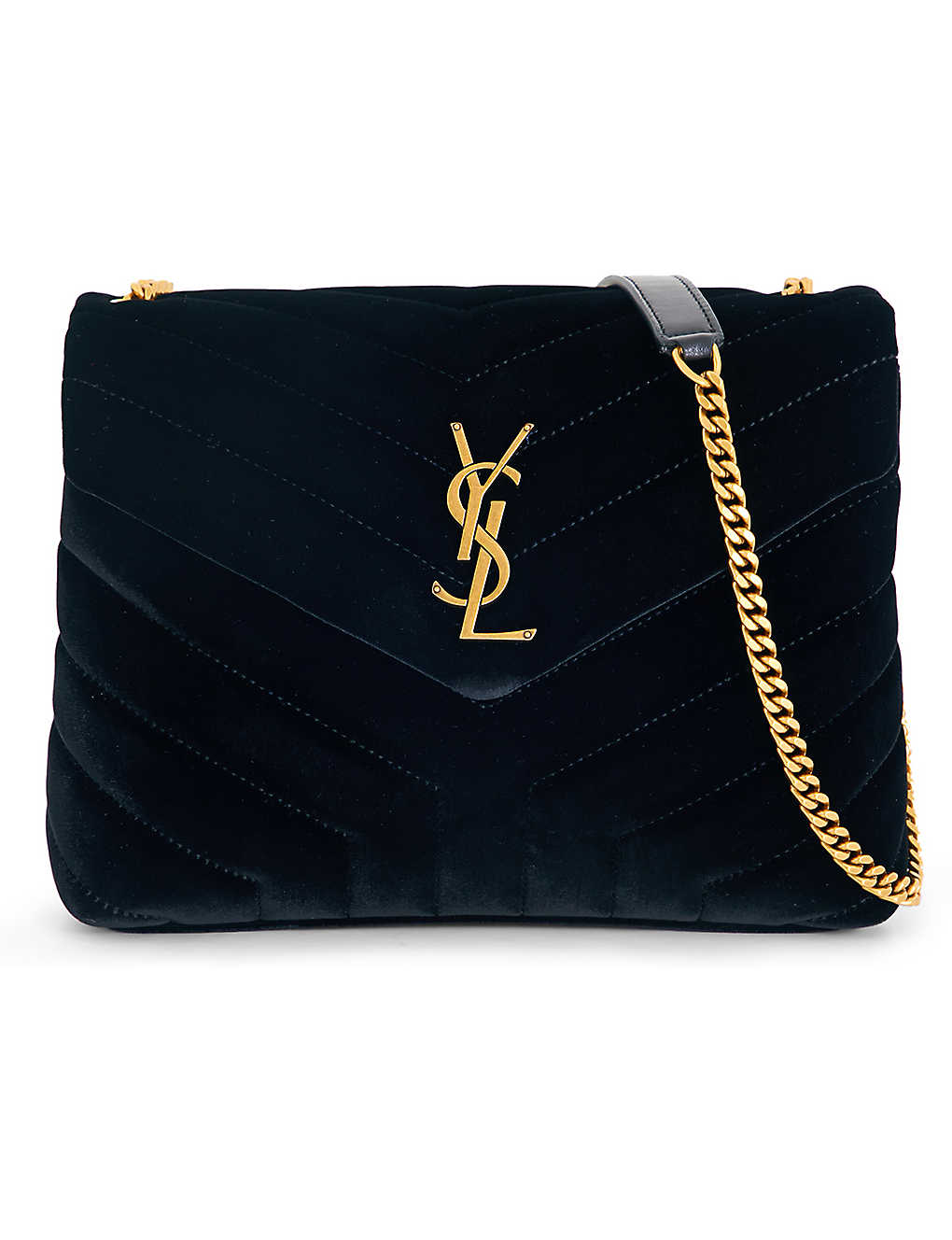 9b1b64928d5 SAINT LAURENT - Lou Lou velvet shoulder bag | Selfridges.com