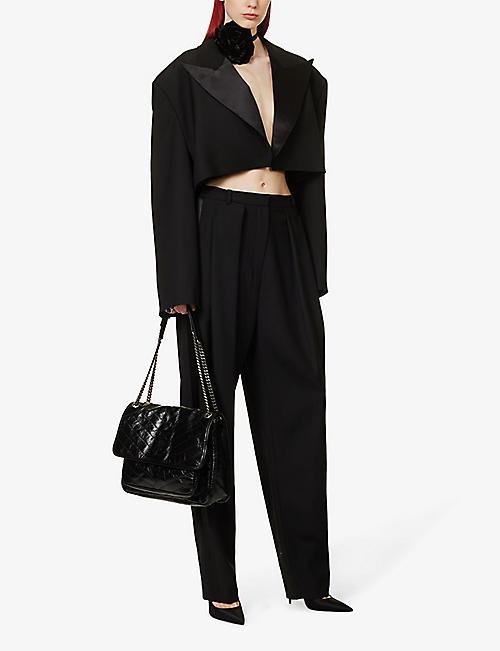 83cca2e64bad SAINT LAURENT Niki Monogram large leather shoulder bag