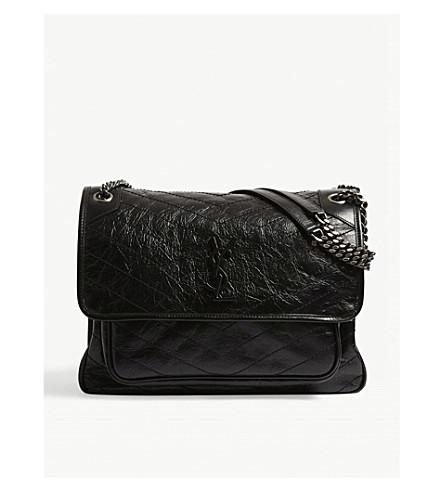 SAINT LAURENT - Niki Monogram large leather shoulder bag ... 37281b8a2095c