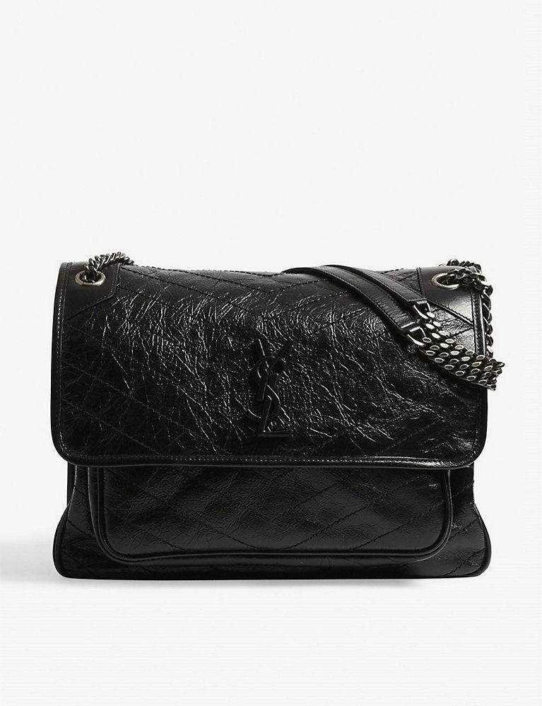 e0270dc2989 SAINT LAURENT - Niki Monogram large leather shoulder bag ...