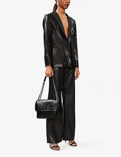 SAINT LAURENT Medium Monogram Niki leather cross-body bag