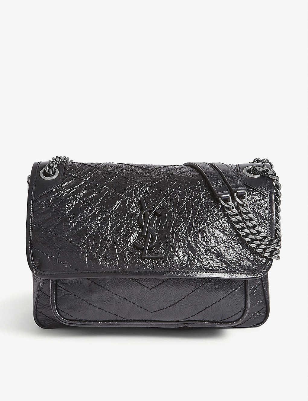 SAINT LAURENT: Medium Monogram Niki leather cross-body bag