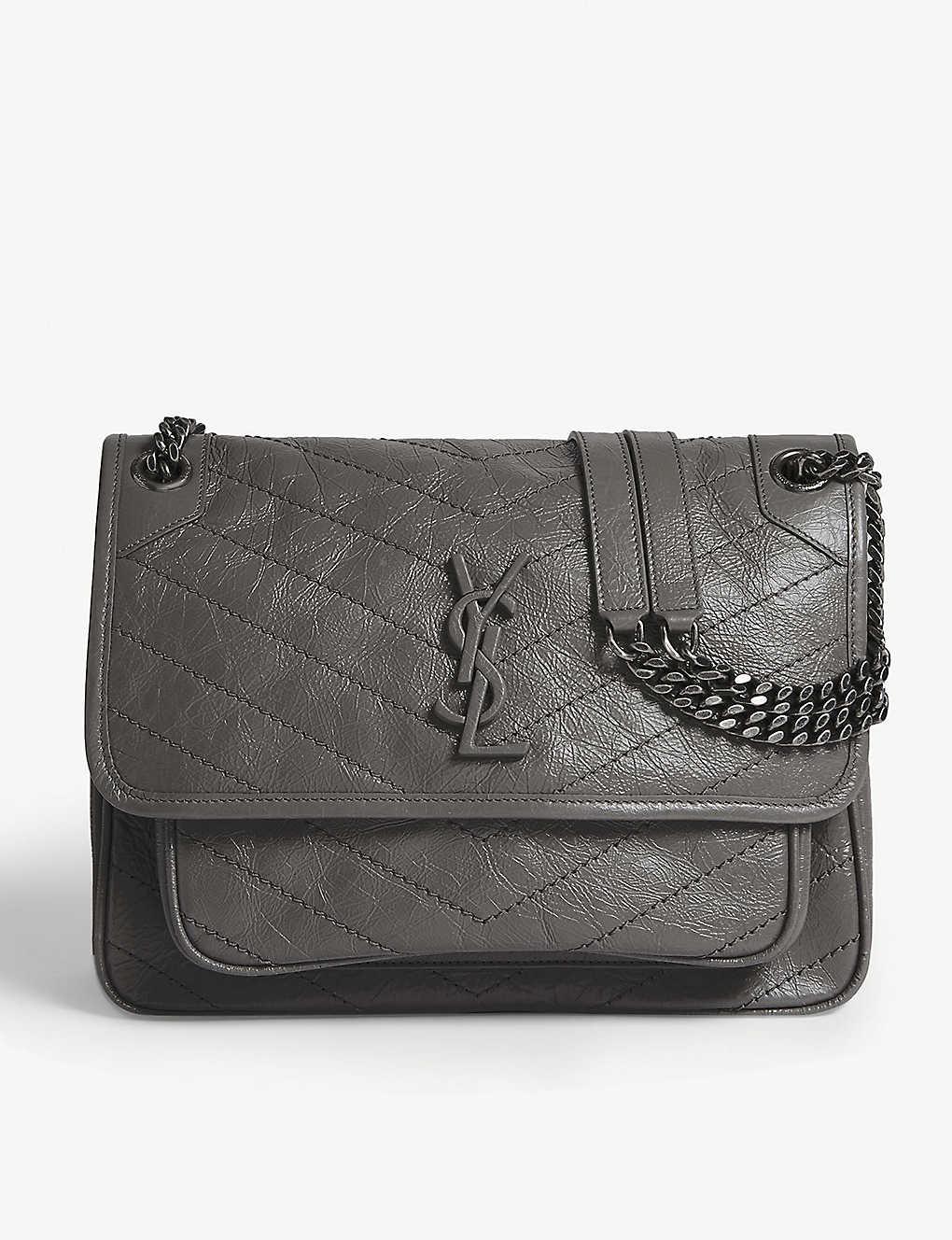 123033f3a21 SAINT LAURENT - Monogram Niki medium leather shoulder bag ...
