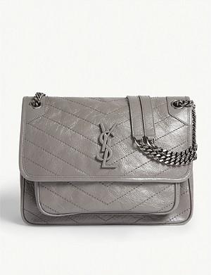 cc7397d7f0181 SAINT LAURENT · Monogram Niki medium leather shoulder bag
