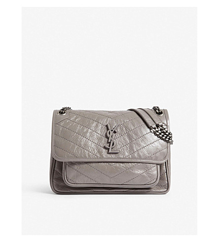 f9e2cefc71 SAINT LAURENT - Monogram Niki medium leather shoulder bag ...