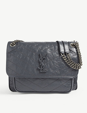 SAINT LAURENT Niki monogram medium leather shoulder bag
