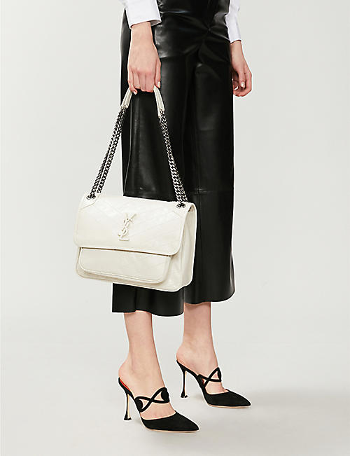 SAINT LAURENT Niki vintage leather shoulder bag