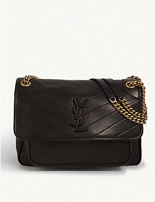 SAINT LAURENT:Niki 中号皮革斜挎包