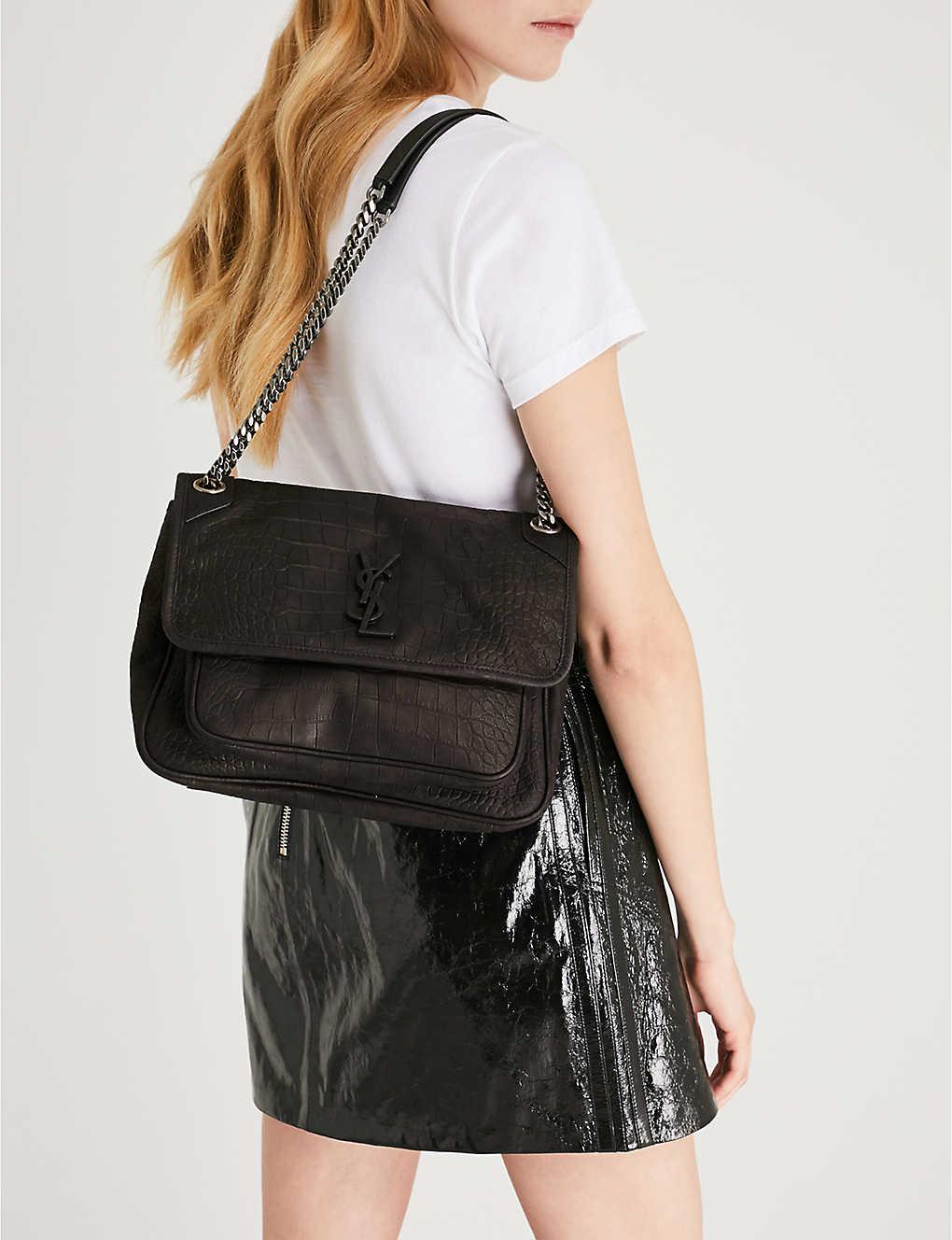 8dfb505cf72 SAINT LAURENT - Monogram Niki medium matte leather shoulder bag ...