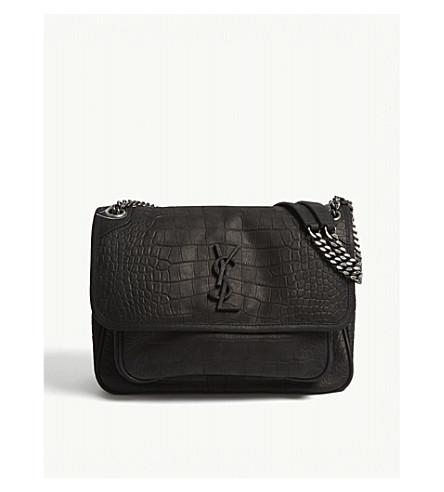SAINT LAURENT Monogram Niki medium matte leather shoulder bag (Black 5a000ee7917fa