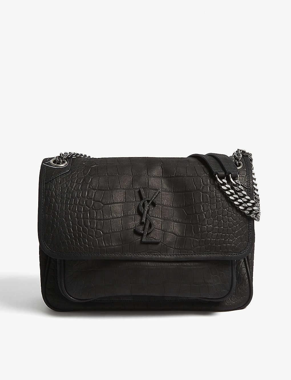 73d8e491b84 SAINT LAURENT - Monogram Niki medium matte leather shoulder bag ...