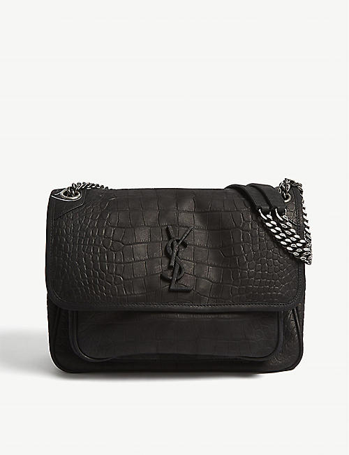 SAINT LAURENT Monogram Niki medium matte leather shoulder bag bf0540c5df4cd
