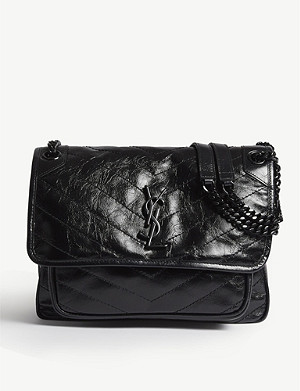 SAINT LAURENT Niki leather shoulder bag