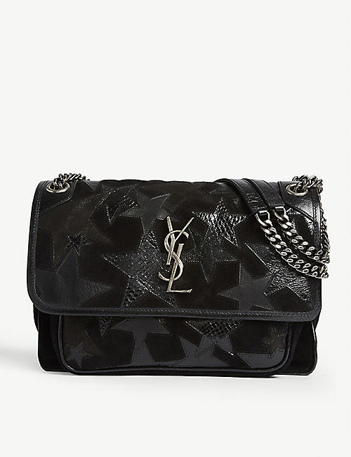 9956f7b706f1 SAINT LAURENT Star Niki slouch bag