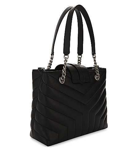 SAINT LAURENT Leathers LOULOU SMALL QUILTED LEATHER TOTE BAG